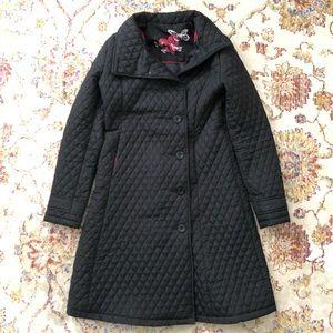 Desigual Black Quilted Long Jacket